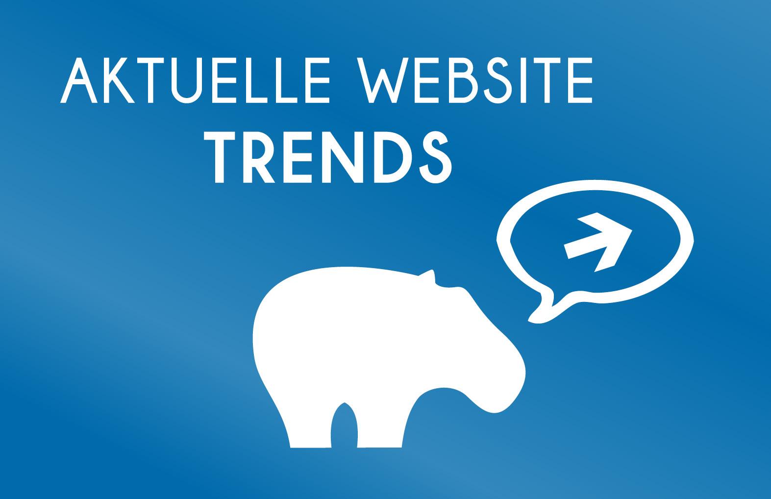 Aktuelle Website Trends 2021 - Blue Hippo Tipps