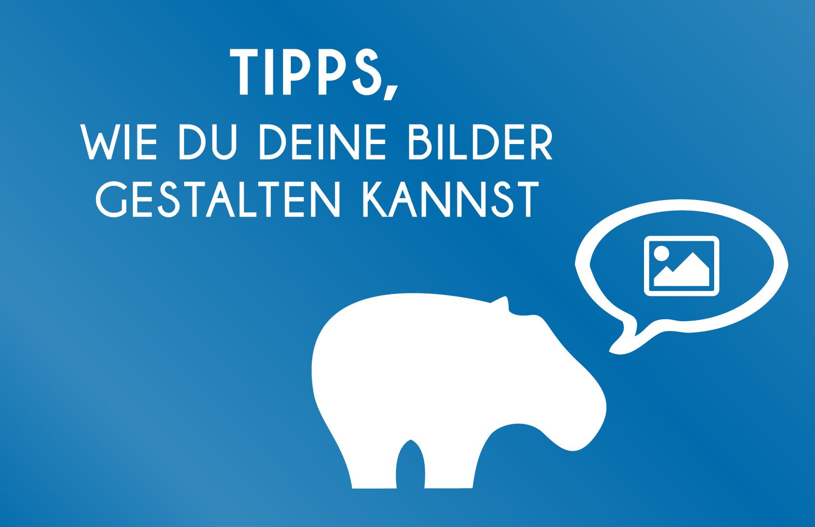 Bilder gestalten - Blue Hippo Tipps wie Du Deine Fotos attrkativer und aufmersamkeitsstärker machen kannst