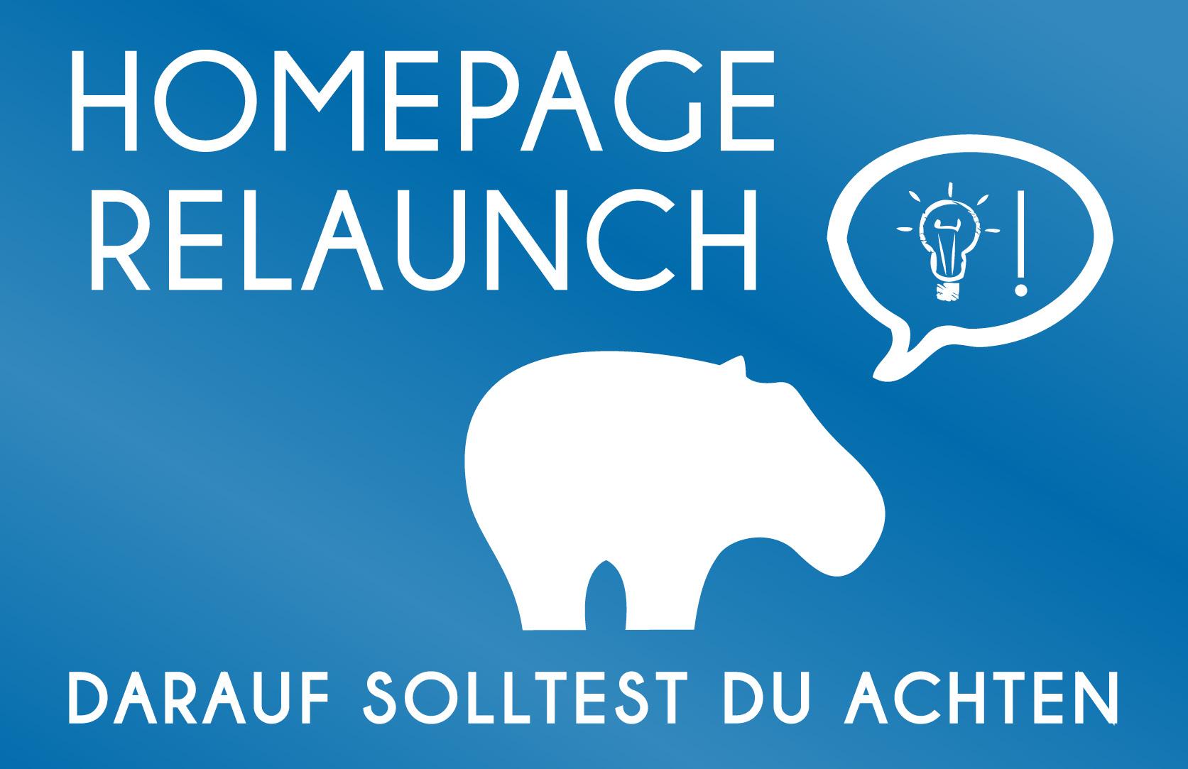 Homepage Relaunch - Blue Hippo Tipss worauf Du achten solltest