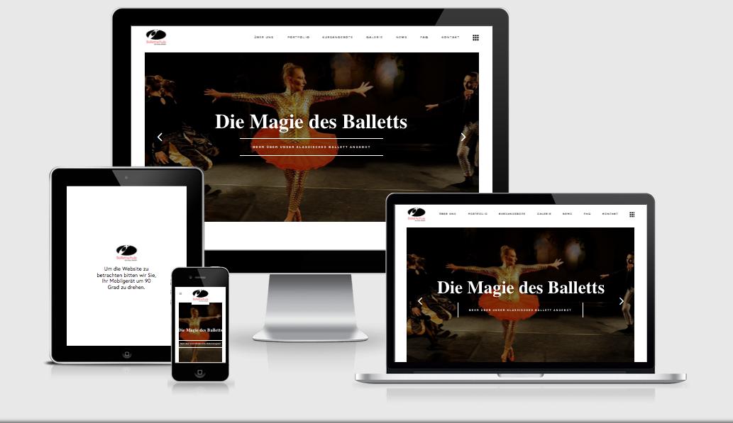 Responsivnessbilder des Launches der Ballettschule Die Färbe Singen
