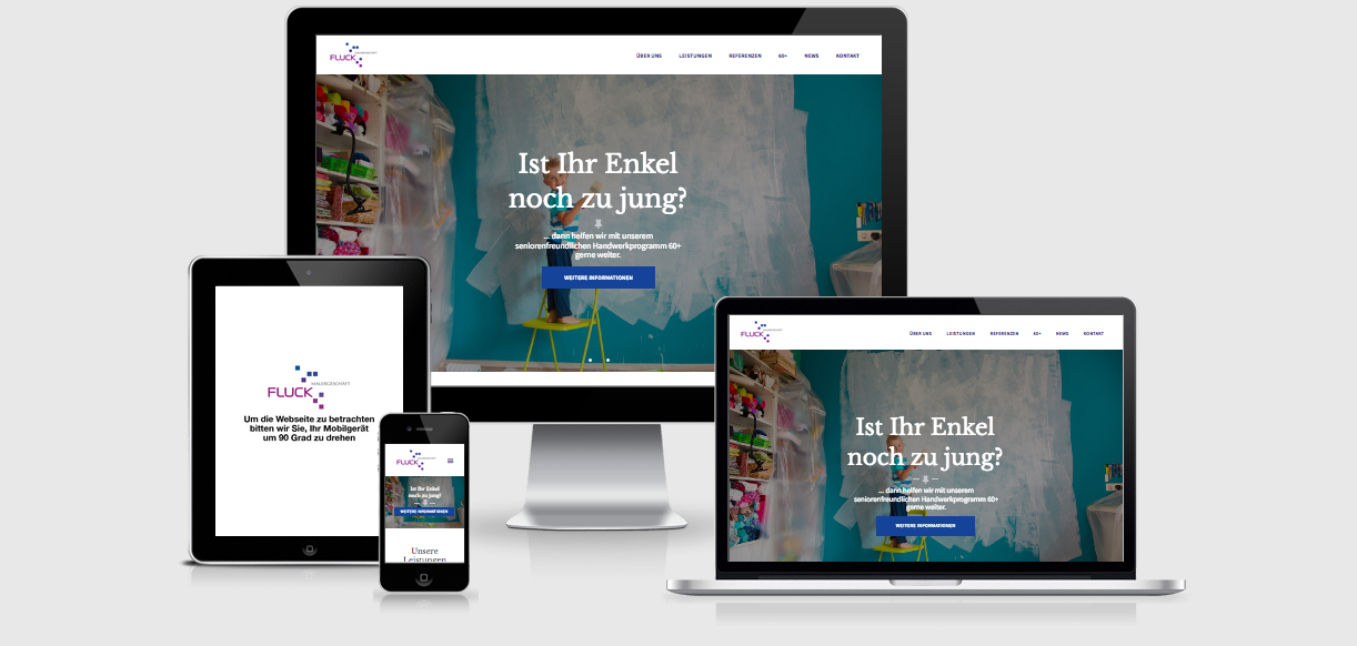 Blue Hippo Relaunch der Webseite des Malergeschäftes Martin Fluck in Rielasingen