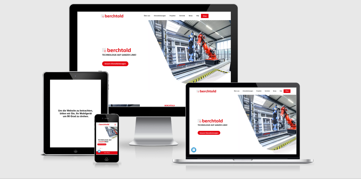 Relaunch des Fensterbaumaschinen Herstellers Berchtold GmbH