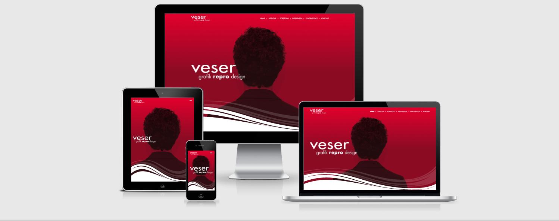 Relaunch der Homepage unseres Kunden veser grafik repro design