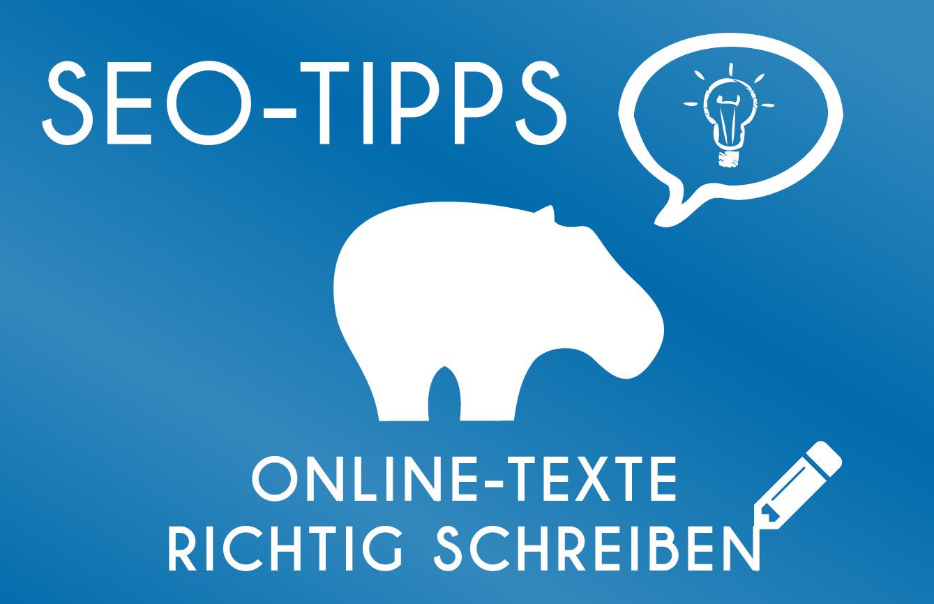 SEO-Tipp - So schreibst Du Online Texte richtig