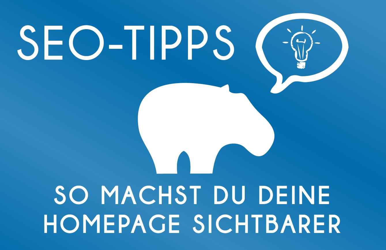 SEO-Tipps Blue Hippo - So wird Deine Homepage bei Google sichtbarer