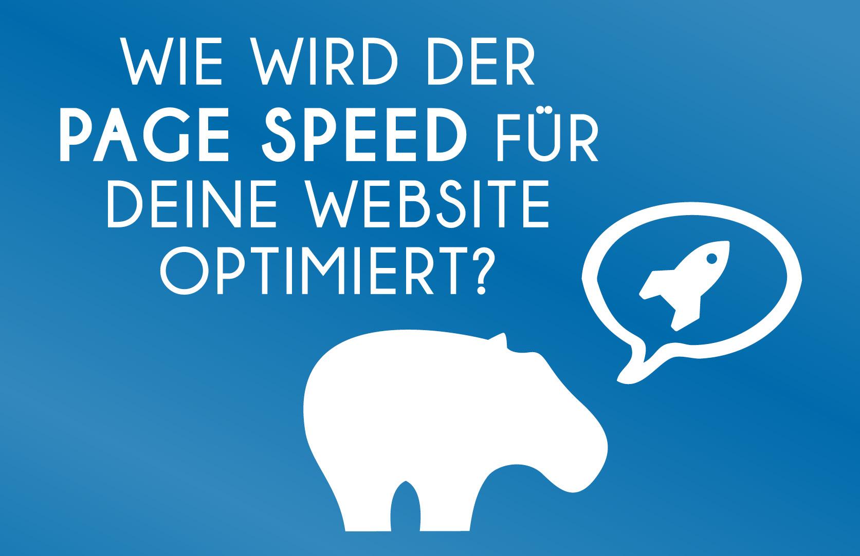 How to - Blue Hippo zeigt Dir wie Du Deinen PageSpeed verbessern kannst